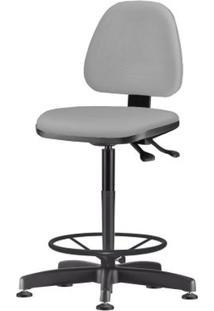 Cadeira Sky Assento Crepe Cinza Claro Base Caixa Fixa Metalica Preta - 54816 - Sun House