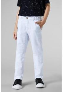 Calça Mini Iron Infantil Reserva Mini Masculina - Masculino-Branco