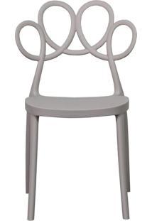Cadeira Decorativa Para Cozinha Laço Nude - Gran Belo
