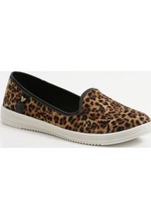 Sapatilha Feminina Slipper Animal Print Mississipi