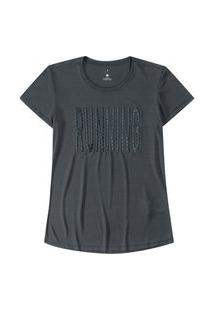 T-Shirt Malwee Manga Curta Dry Fit Cinza