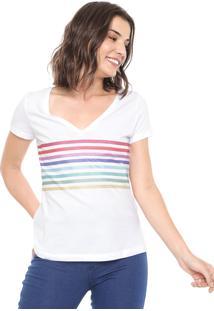 Camiseta Hering Listras Branca