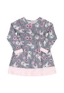 Vestido Em Cotton Quimby Cinza