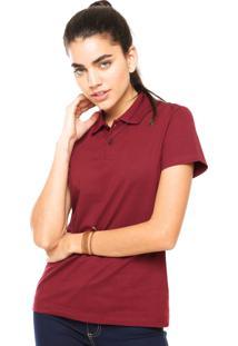 Camisa Polo Manga Curta Malwee Slim Vinho ef8f06508186f