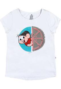 Blusa Infantil Menina Com Paetê Turma Da Mônica Hering Kids
