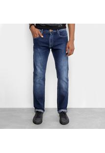 770e90a60 Calça Jeans Slim Cavalera Clássica Estonada Masculina - Masculino