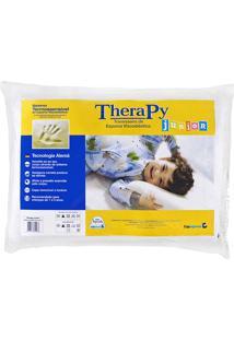 Travesseiro Copespuma Viscoelástico Therapy Junior Com Capa De Fibra De Bambu