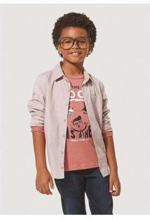 Camisa Infantil Menino Oxford Com Bolso Hering Kid