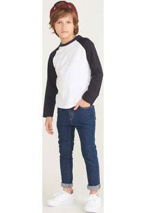 Calça Jeans Menino Slim