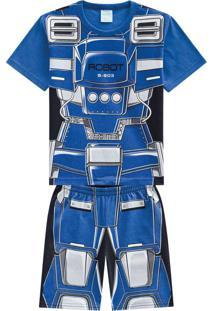 Pijama Masculino Azul