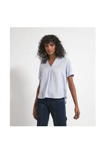Camisa Manga Curta Com Abotoamento Nas Costas | Marfinno | Branco | Pp
