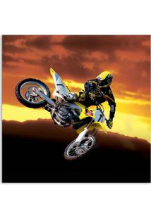 Quadro Moto Uniart Amarelo 30X30Cm