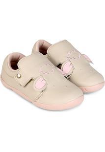 Sapato Infantil Couro Ortopé Dna New Ovelha Feminino - Feminino-Off White