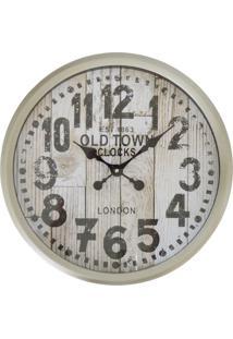 Relógio De Parede Rústico Old Town 37Cm