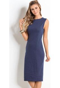 Fotos de vestido tubinho azul marinho