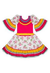 Vestido Junino Douvelin Pink