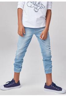 Calça Jeans Infantil Menino Jogger Com Amarração Hering Kids