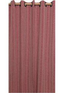 Cortina Brillance Para Varão Vinho E Vermelha (180X300)