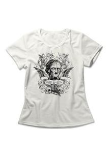 Camiseta Feminina Edgar Allan Poe Off-White
