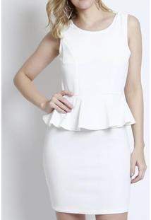 Vestido Bon Com Laço Posterior Off White