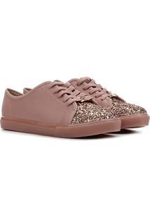 Sapato Infantil Molekinha Glitter Feminino - Feminino-Rosa