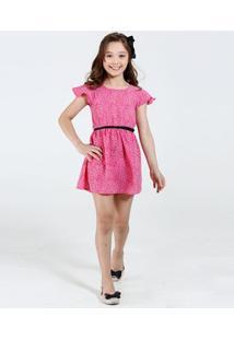 Vestido Infantil Estampa Onça Cinto Marisa