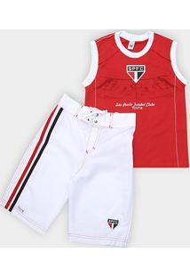 Conjunto Infantil São Paulo Regata E Bermuda - Masculino