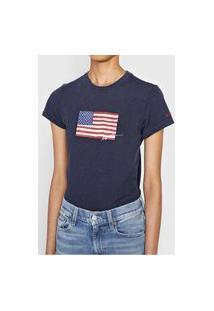 Camiseta Polo Ralph Lauren Estampada Azul