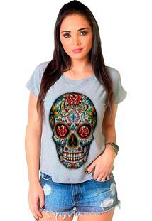 Camiseta Shop225 Caveira Colorida Mescla