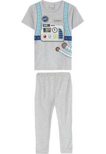 Pijama Cinza Claro Space Man Menino