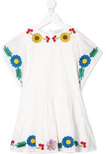 Stella Mccartney Kids Vestido Com Bordado Floral - Branco