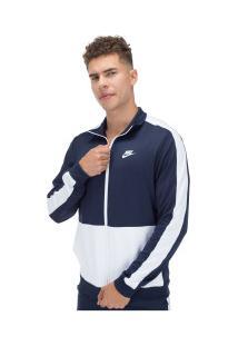 Agasalho Nike Trk Suit Pk - Masculino - Azul Esc/Branco