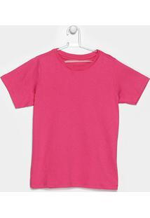 Camiseta Blank Basic Infantil - Feminino-Pink