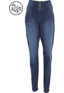 02e57ef213 Calça Jeans Lunender Mais Mulher Plus Skinny Lisa Azul