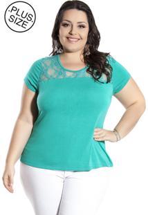 Blusa Plus Size Miss Masy Plus Mpf41200-35187 Verde
