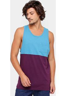 Regata Adidas Ess Cb Masculina - Masculino-Azul+Roxo