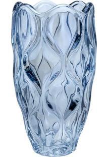 Vaso Safir- Cristal & Azul- 30Xø16,5Cm- Rojemacrojemac