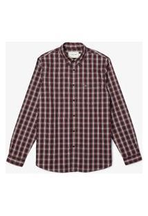 Camisa Lacoste Regular Fit Bordô