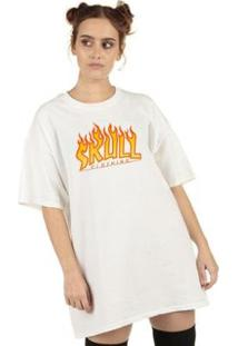 Camiseta Flame Feminina - Feminino-Branco