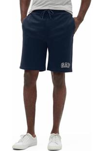 Bermuda Gap Reta Logo Azul-Marinho