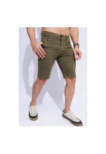 Bermuda Casual Verde Militar Masculina Vt891842