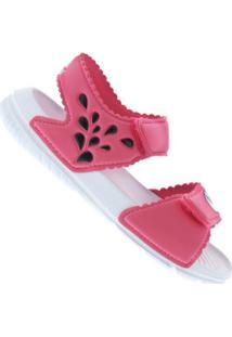 Papete Adidas Altaswim G I Feminina - Infantil - Rosa/Branco
