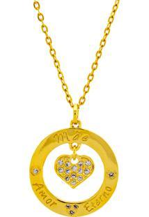 Gargantilha Horus Import Mãe Banhada Ouro Amarelo 18 K - 1061157