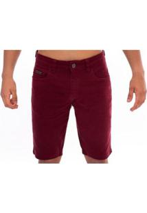 Bermuda Jeans Slim Confort Aee Surf Masculina - Masculino-Vinho