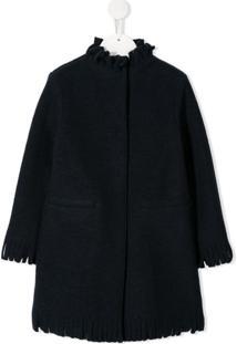 Il Gufo Fringe Trim Coat - Azul