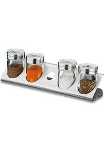 Porta Condimentos 5 Pçs Aço Inox 1576-100 Brinox