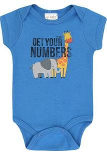 Body Infantil Girafa Up Baby Masculino - Masculino-Azul