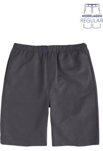 Shorts Masculino Básico Em Tecido De Poliéster