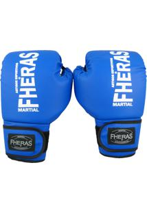7421e1392 Luva Fheras Boxe Muay Thai Tradicional - 14 Oz Azul