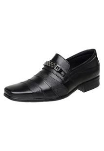 Sapato Vossavest Social Tradicional Couro Preto 3041
